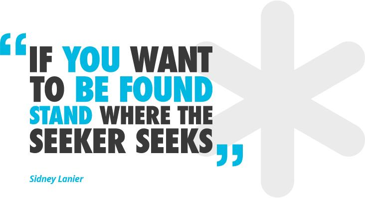 Stand where Seeker Seeks- Sidney Lanier