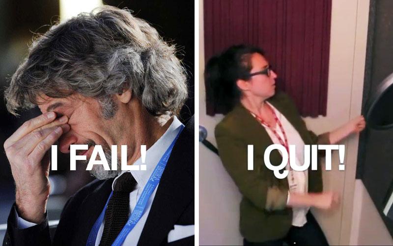 Barilla e Marina Shifrin: fail and quit