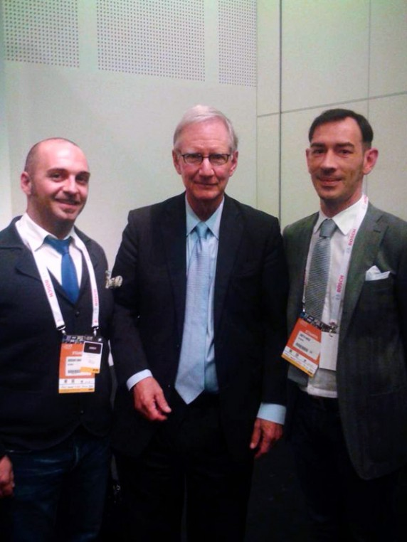 Tom Peters con Enrico Bisetto e Damiano Bordignon
