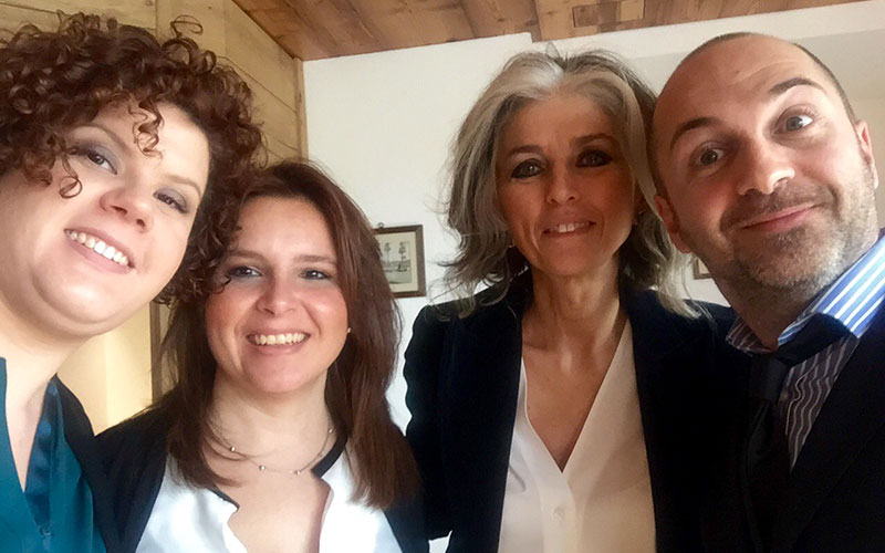 Selfie con Paola Marella